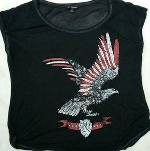 Rock & Republic Burnout Eagle T Shirt
